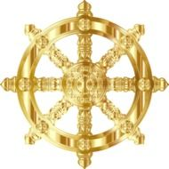 ornamental golden wheel