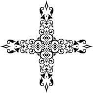 ornamental floral cross
