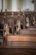 church wooden benches