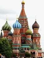 Cathedral with colorful domes on the Red Square in Moscow