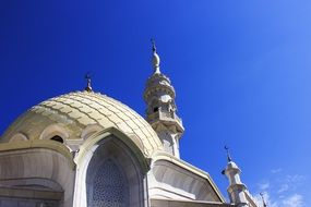 White mosque with Minaret