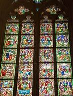 church window as a colorful stained glass window