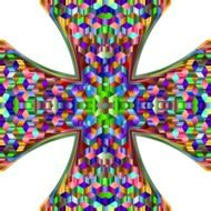 colorful prismatic cross