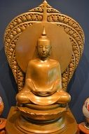 gold nice Buddha sculpture