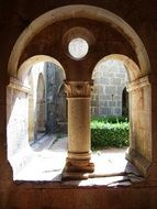 arched Cloister in courtyard