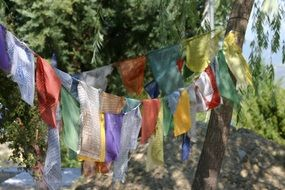 Buddhism Prayer Flags Tibetan