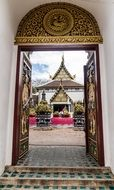doorway to the temple in Chiang Mai