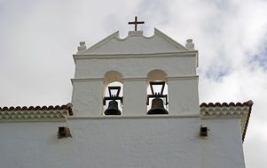 white Church bell tower