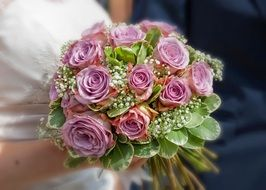 A Bouquet Of Wedding Roses