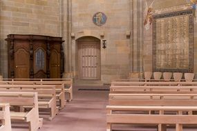 Church Of Our Lady, the oldest Gothic church interior, germany, Trier