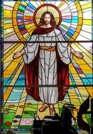 Stained Glass window, Jesus in Glory