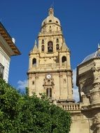 church in baroque style in the city of murcia in spain