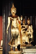 Buddha figures in asian temple