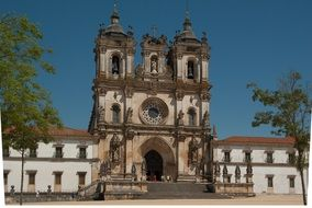Monastery in the Alcobaca city, Portugal