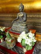 Buddha figure in the asian palace