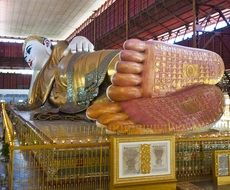 Big Asian buddha statue