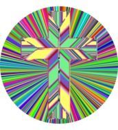 rainbow prismatic cross