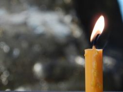burning church candle