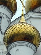 Golden domes of the Russian Cathedral in Yaroslavl
