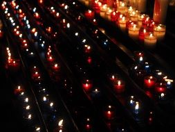 candle lights in the Church
