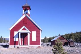 old church amidst nature of a colorado