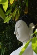 asian white buddha statue