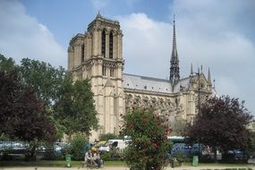 medieval Notre-Dame Cathedral in Paris