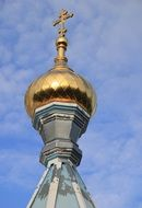 golden church dome in Daugavpils