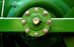 green mechanism of a agricultural machine