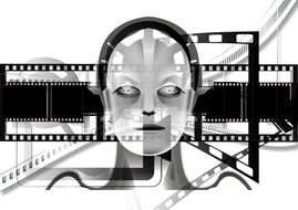 robot as a demonstration of a science fiction film
