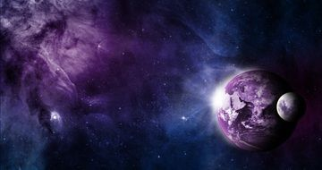 purple outer space