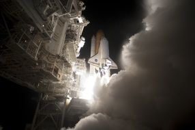 launch of NASA space shuttle