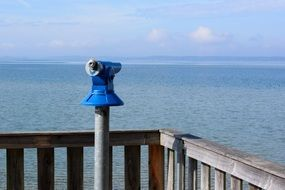 telescope for remote viewing on the waterfront