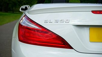 taillight of Mercedes SL350