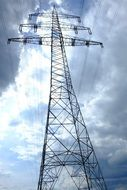 electricity pylon with wires
