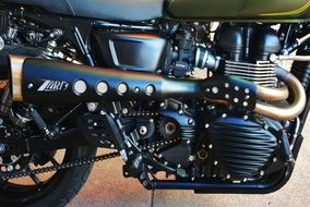 brilliant motor system of a motorcycle
