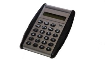 calculator with rubber black accents