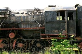 old tow locomotive