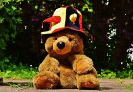 teddy in colorful hat for european soccer championship 2016