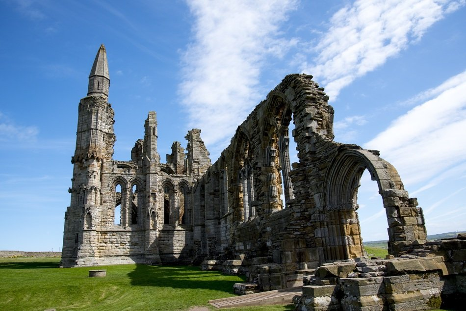 ruins of abbey whitby in england