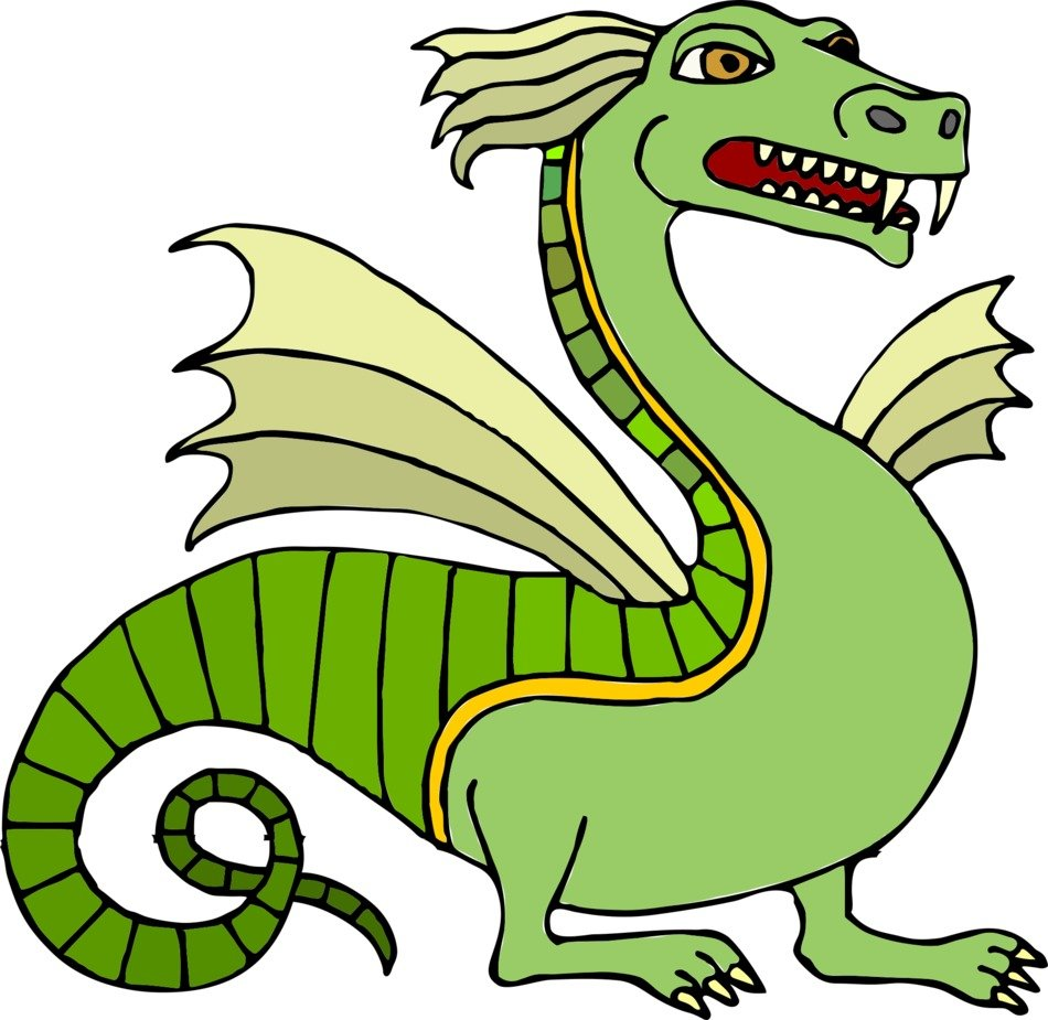 graphic image of a green dragon