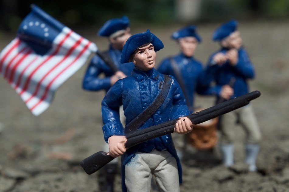 toy soldiers of the allied army