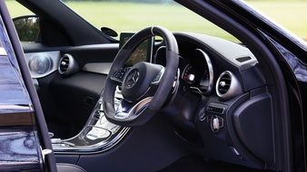 elegant interior of a luxury Mercedes