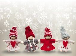 dolls as christmas decoration