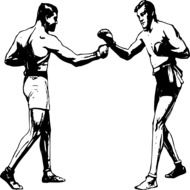 Boxers Fight Men drawing