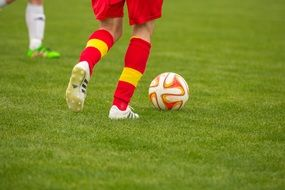 red yellow football socks