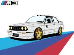 Bmw 5 drawing