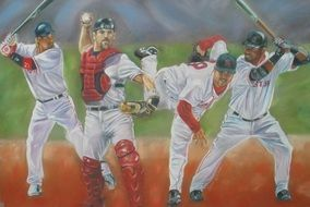 painted baseball players