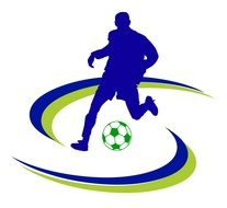Soccer Sport Icon Logo Design drawing
