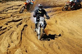 enduro as an aggressive form of riding a motorcycle
